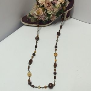 Vintage Glass Beaded & Wire form necklace